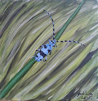 Chameleon Painting - Rosalia Alpina by Judit Szalanczi