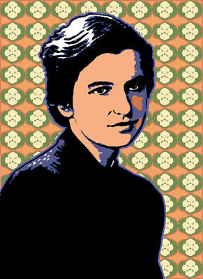 Biochemist Digital Art - Rosalind Franklin by Linda Ruiz-Lozito