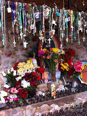 Rosaries And Flowers Art Print