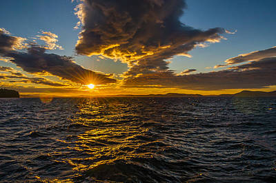 Anacortes Photograph - Rosario Strait Sunset by Pelo Blanco Photo