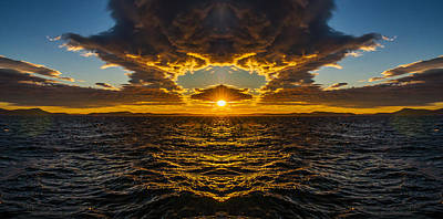Anacortes Photograph - Rosario Strait Sunset Reflection by Pelo Blanco Photo