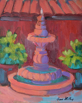 Painting - Rosarito Fountain by Diane McClary