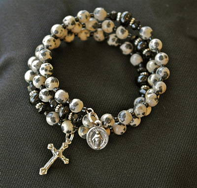 Jewelry - Rosary Bracelet Of Dalmatian Jasper by Michele Myers