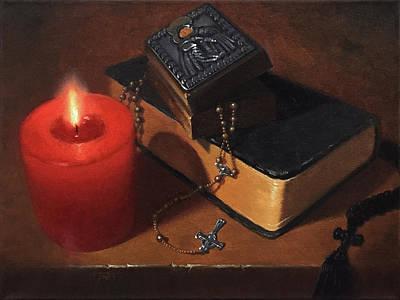 Rosary Meditation Art Print by Timothy Jones