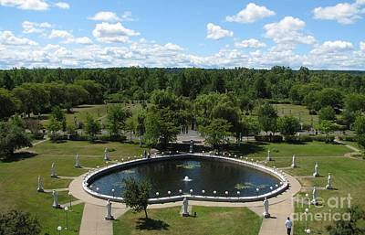 Rosary Pond At Our Lady Of Fatima Basilica Shrine In Lewiston New York Art Print
