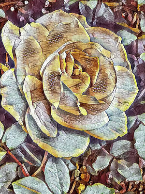 Mixed Media - Rose 3 by Jonathan Nguyen
