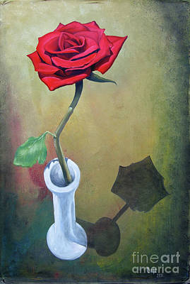 Painting - Rose 45 by Larry Cole
