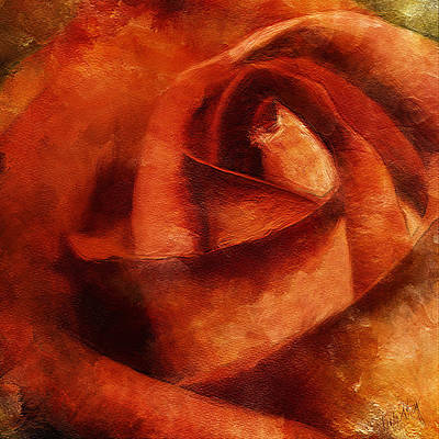 Linda King Painting - Rose 4854 by Linda King