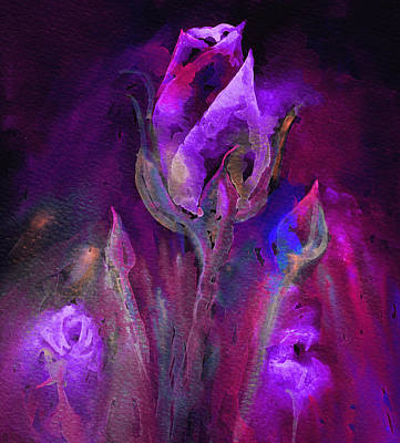 Digital Art - Rose Abstract by Elizabeth Lock