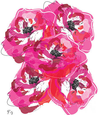 Painting - Rose Abundance by Go Van Kampen