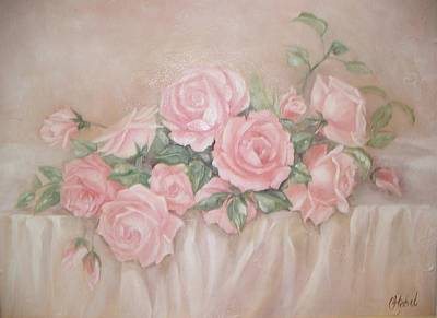 Rose Abundance Painting Art Print by Chris Hobel