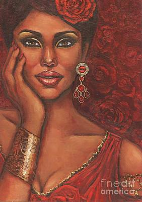 Painting - Rose by Alga Washington