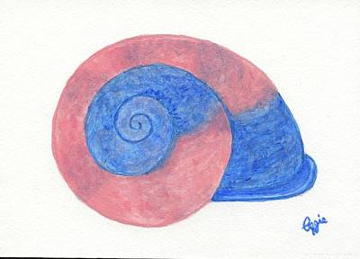 Painting - Rose And Blue Shell by Stephanie Agliano