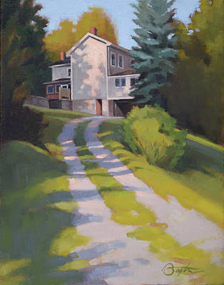 Driveway Painting - Rose And Jim's Place by Todd Baxter