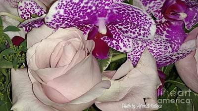 Photograph - Rose And Orchid by Afroditi Katsikis