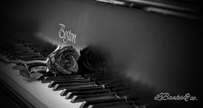 Compostion Digital Art - Rose And Piano by Larry Banks