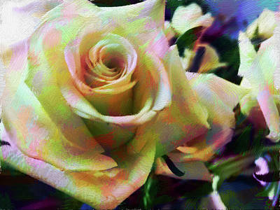 Digital Art - Rose Art 2 by Karen Nicholson