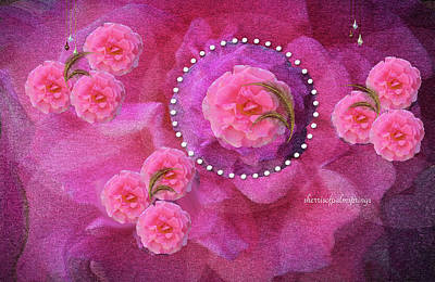 Digital Art - Rose Art A Rose Is Given With Love by Sherri's Of Palm Springs