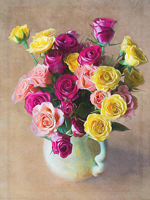 Painting - Rose Art - The Sweetest Joy by Jordan Blackstone