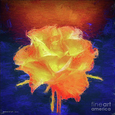 Rosaceae Mixed Media - Rose Artistic Floral Nature by Mona Stut