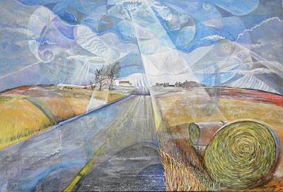 Haybale Painting - Rose Bank Church Answers To Prayers by Jennifer Hathaway