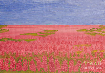 Painting - Rose-bay Meadow, Painting by Irina Afonskaya