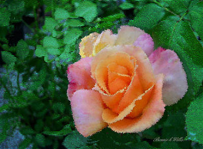 Art Print featuring the photograph Rose by Bonnie Willis