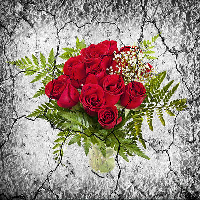 Red Rose Photograph - Rose Bouquet by Elena Elisseeva