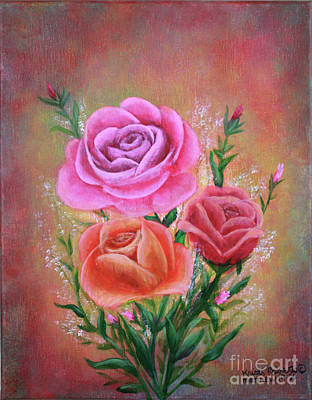 Painting - Rose Bouquet by Kristi Roberts