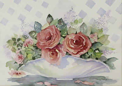 Painting - Rose Bowl by Jerry Kelley