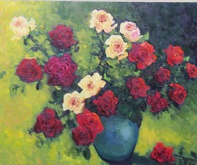 Rose Bowl  Original by Lore Rossi
