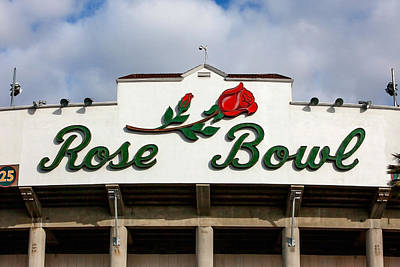 Football Stadium Photograph - Rose Bowl Pasadena by Art Block Collections