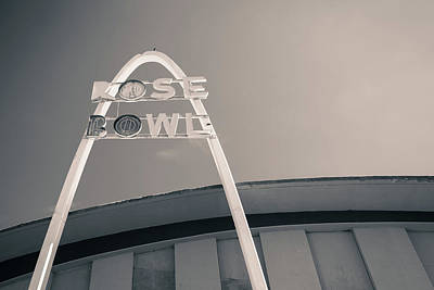 Photograph - Rose Bowl Tulsa Route 66 - Monochrome by Gregory Ballos