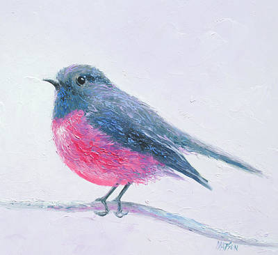 Painting - Rose Breasted Robin by Jan Matson