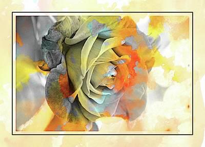 Old Masters Royalty Free Images - Rose Bud Royalty-Free Image by Athala Bruckner