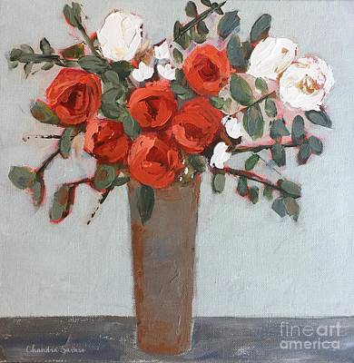 Flower Painting - Rose Buds by Chandra Savaso