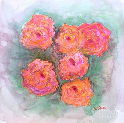 Painting - Rose Bunch  by Barrie Stark