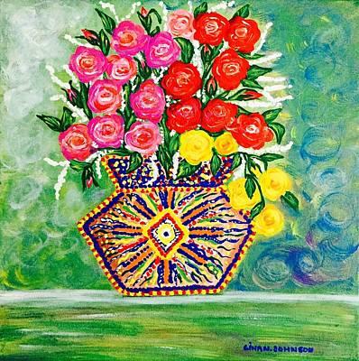 Painting - Rose Burst by Gina Nicolae Johnson