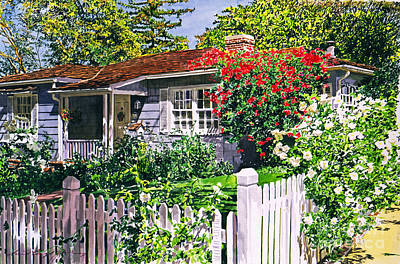 Rose Cottage  Art Print by David Lloyd Glover