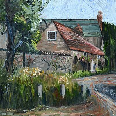 Painting - Rose Cottage by Donna Tuten