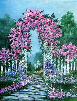 Rose-covered Trellis Original by Lois Mountz