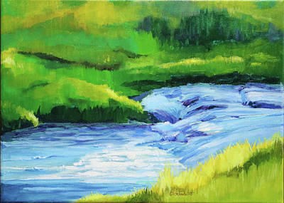 Wall Art - Painting - Rose Creek Summer by Pam Little