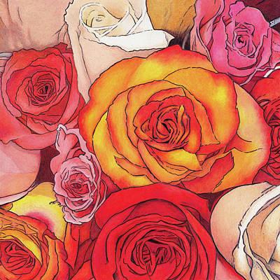 Colored Pencil Painting - Rose Crush by Rhonda Dicksion