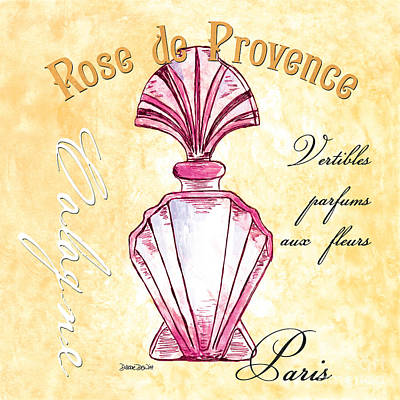 Pen And Ink Drawing Painting - Rose De Provence by Debbie DeWitt
