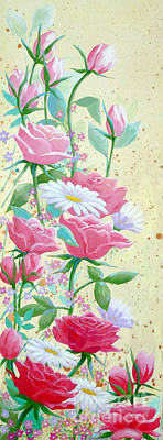 Painting - Rose Diptych 1 by Julia Underwood