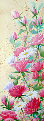Painting - Rose Diptych 2  by Julia Underwood