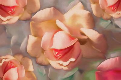 Mixed Media - Rose Dream 5 by Lynda Lehmann