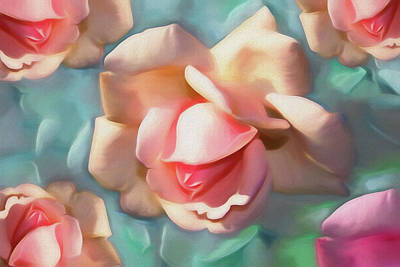 Mixed Media - Rose Dream by Lynda Lehmann
