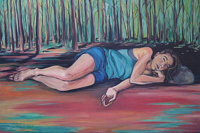 Painting - Rose Dreaming by Lisa Kimberly Glickman