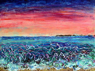 Painting - Rose Dusk Beach by Regina Valluzzi